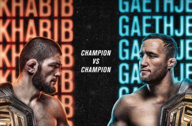 UFC 254 poster Khabib vs Gaethje