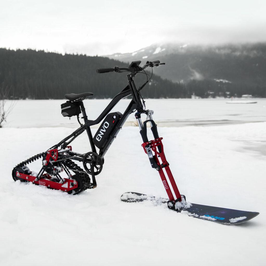 Tover je fiets om in een dikke sneeuwscooter dankzij deze 'Envo' kit 1