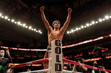 Ryan Garcia wint de interim titel door zijn tegenstander met een leverstoot knock-out te slaan